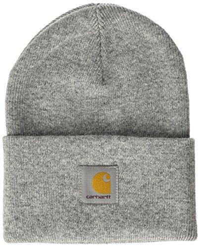 carhartt-unisex-fedora-acrylic-watch-hat-grau-grey-heather-one-size
