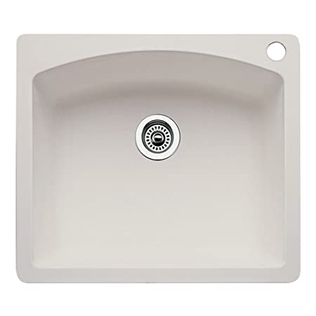 Blanco 511-610 Diamond 25-Inch-by-22-Inch Single Bowl Kitchen Sink, Biscuit Finish