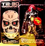 Terminator Endoskeleton Action Figure with Light Up Eyes - T2-3D: Terminator 2
