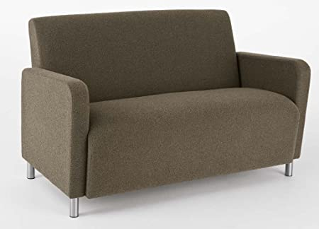 Ravenna Series Modular Settee Finish: Walnut, Color: Essex Green Fabric