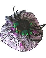 Halloween Scary 3D Spider Fancy Dress Fascinator Veil Hat
