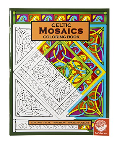 MindWare - Celtic Mosaic Coloring Book - 23 Unique Designs - Teaches Creativity and Fosters Imagination - 1