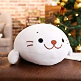 sofipal Seal Plush Hugging Pillow,Soft Seals Sea Lion Stuffed Animal Toy Doll Gifts for Kids (White, 15