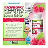 Raspberry Ketones Plus+ Advanced Fat Burning Formula - Top-Rated, Stimulant Free Weight Loss Supplement and Appetite Suppressant for Men and Women - 60 Capsules, 1000mg/serving