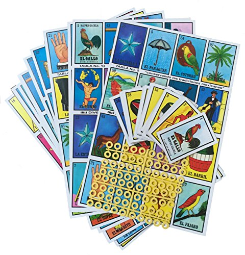 Loteria Mexicana Family Board Game - Set of 20 Jumbo Boards and Deck of 54 Cards (Clue Board Game Spanish compare prices)