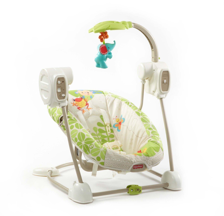 Cadeira De Balanço Automática Musical Fisher Price R$ 899 00 em  #833D2B 1500x1441