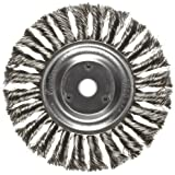 Weiler Dualife Standard Wire Wheel Brush, Round Hole, Stainless Steel 302, Partial Twist Knotted