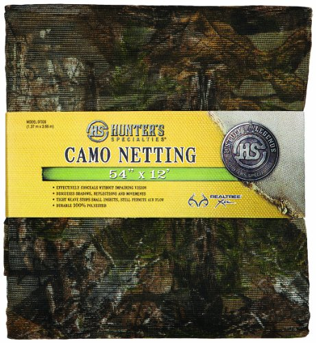 Learn More About Hunter's Specialties 12 ft. Realtree Xtra Green Mesh Netting