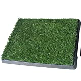 Topiastore Indoor Pet Toilet Dog Grass Restroom 3-Piece Potty Training with Tray and Loo Pad