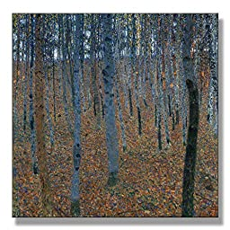 Gustav Klimt Birch Forest I (Beech Grove I) 1902 Original Landscapes Oil Painting Reproduction on Gallery Wrapped Canvas 30X30 inch