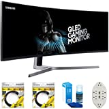 Samsung CHG90 Series 49-inch HDR Certified Curved Gaming Monitor (LC49HG90DMNXZA) Bonus Hook-up Bundle (Color: black)