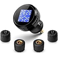 Fullele Wireless Tire Pressure Monitoring System TPMS with 4 External Sensors