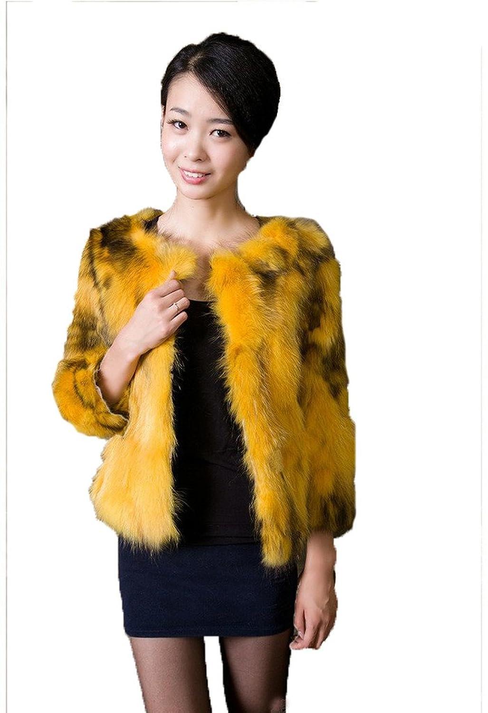 YR Lover Damen Winter Echter Waschbär Pelz Warm Fuchs Mantel Jacket bestellen