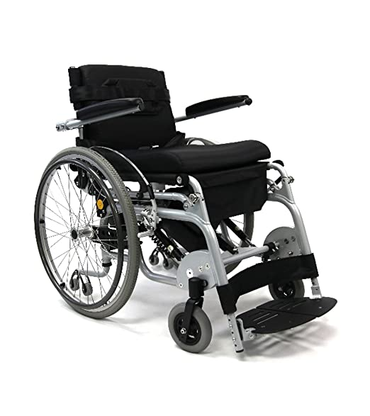 "Karman XO-101 ( XO-101 ) 18"" Manual Push-Power Assist Stand Wheelchair & FREE Universal Medical Utility Bag"