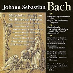 St. Matthew Passion, BWV 244: Part I: Chorale: Herzliebster Jesu, was hast du verbrochen (Chorus)
