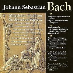 St. Matthew Passion, BWV 244: Part I: Aria: Ich will dir mein Herze schenken (Soprano)
