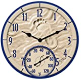 Home - Springfield  91501 14-Inch By the Sea Clock with Thermometer