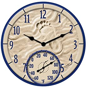 Springfield  91501 14-Inch By the Sea Clock with Thermometer