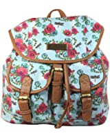 Hayley Rose Daisy and Dragonfly Print Backpack / Rucksack -- SWANKYSWANS