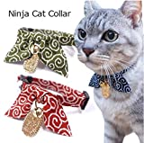 Ninja Lucky Cat Collar (Red)
