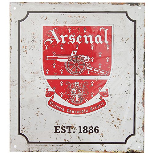 Arsenal F.C. Plaque rétro du Logo officiel