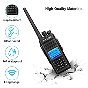 Retevis RT83 DMR Radios Digital Two Way Radio Waterproof IP67