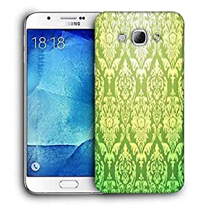 Snoogg Green Pattern Printed Protective Phone Back Case Cover For Samsung Galaxy A8