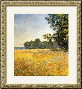 Oat Fields by Claude Monet Framed