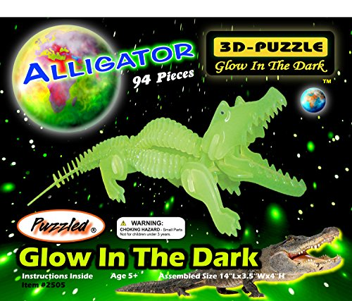 Puzzled Alligator Glow In The Dark 3D Jigsaw Puzzle