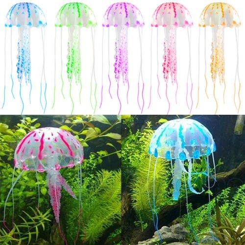 sonline aquarium meduse artificielle decoration artificial jellyfish poisson tank glowing