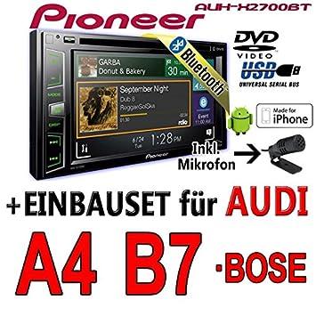Audi a4 b7 pioneer aVH-x2700BT - 2DIN autoradio multimédia avec bluetooth, etc.
