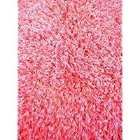 Plain Pink Shag Area Rug