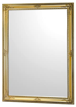Febland Edward Wall Mirror, Gold, King Size