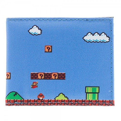 Portafoglio, motivo: Nintendo, Super Mario Sublimated Bi-Fold nuova licenza mw1px6sms Gifts