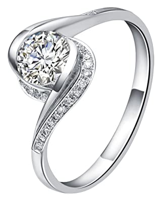 Generic Women's Alloy Thin Engagement Ring