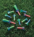 Zing Toys Deluxe Pop Rocketz Set with 5 Colorful Rockets and 2 Squeeze Launchers