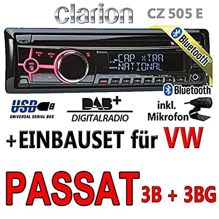VW passat 3B 3BG clarion cZ505E-bluetooth/dAB autoradio avec écran digital