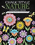 Chalk-Style Nature Coloring Book: Col...