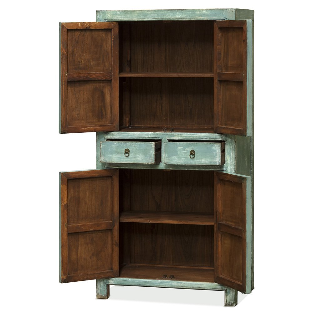 China Furniture Online Ming Cabinet, Distressed Armoire 1