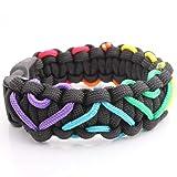 Soul Statement Paracord Bracelet (Black & Rainbow)
