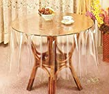 "Lowprice OnlineTM Transparent Waterproof Table Cover for 60"" Round Table - Clear (60"" Round)"