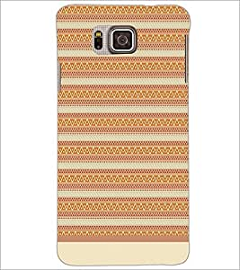 PrintDhaba Tribal Pattern D-1738 Back Case Cover for SAMSUNG GALAXY ALPHA (Multi-Coloured)