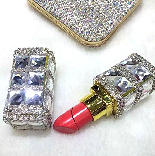 TISHAA Gorgeous Bling Bling Fashion Jewelry Accessory Camouflage Cigarette Lighter Fire Starter (Lipstick Crystal)