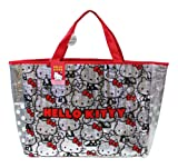 Silver W/ Hello Kitty Print Design – Sanrio Hello Kitty Large Aluminum Tote Hand Bag Shoulder Beach Bag