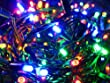 """BETHLEHEM Multi Colored 50-count LED Light String - Battery Powered - With Timer - Twinkle or Steady - 4"""" Spacing Between Lights - 17.5-Feet Long - Money Back Guarantee"""