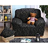 Imported 90-140cm One Seat Sofa Couch Protector Elastic Slipcover Letter Pattern