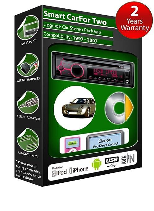 Smart car de lecteur CD et stéréo de voiture radio Clarion jeu USB pour iPod/iPhone/Android