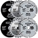 6 Piece Blade Pack for Rockwell Versa Cut ; 3-3/8-inch Mix of Carbide; Diamond; and Circular Saw Blades for Rockwell Versacut - 6 Piece Set Includes: 2 Pack - #60 Grit Diamond Blade, 2 Pack - 44t HSS Blade; 2 Pack - 24t Carbide Blade