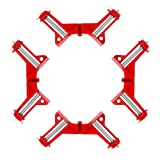 Beduan 90 Degree Right Angle Clip Fixed Corner Clamp Multifunction Hand Tool for DIY Fishtank Woodworking Picture Frame (Pack of 4) (Tamaño: 4pcs)