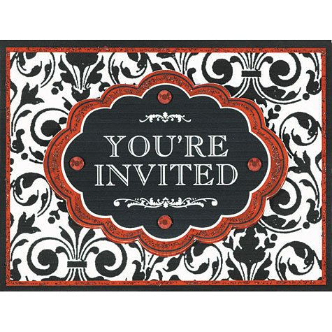 Joy Christmas Invitations 8ct - 1